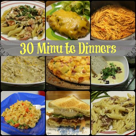 30 minutes meals or less 30 minute dinners meals that can be made in 30 minutes or less easy quick recipes recipes