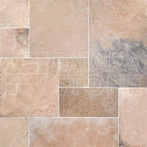 anatolia french pattern tumbled travertine patara stone