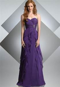 Purple bridesmaid dress march 2013 for Purple long dress for wedding