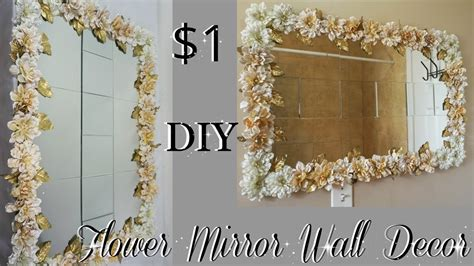 Diy Home Decor Projects And Ideas: FLOWER MIRROR WALL DECOR