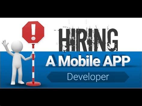 app designer for hire hiring a mobile app developer