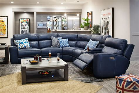 Sofa Sectional With Recliner by Newport 6 Power Reclining Sectional With 3 Reclining