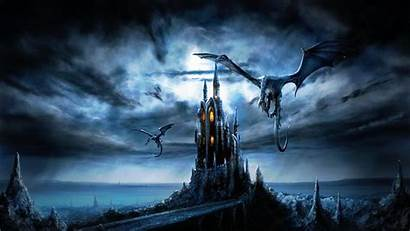Dragon Wallpapers Dragons Castle Castles 4k Crystal