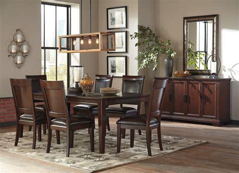 ashley shadyn  piece casual dining room set   warm
