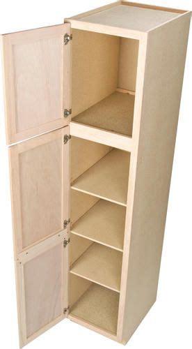 quality     unfinished oak utility cabinet