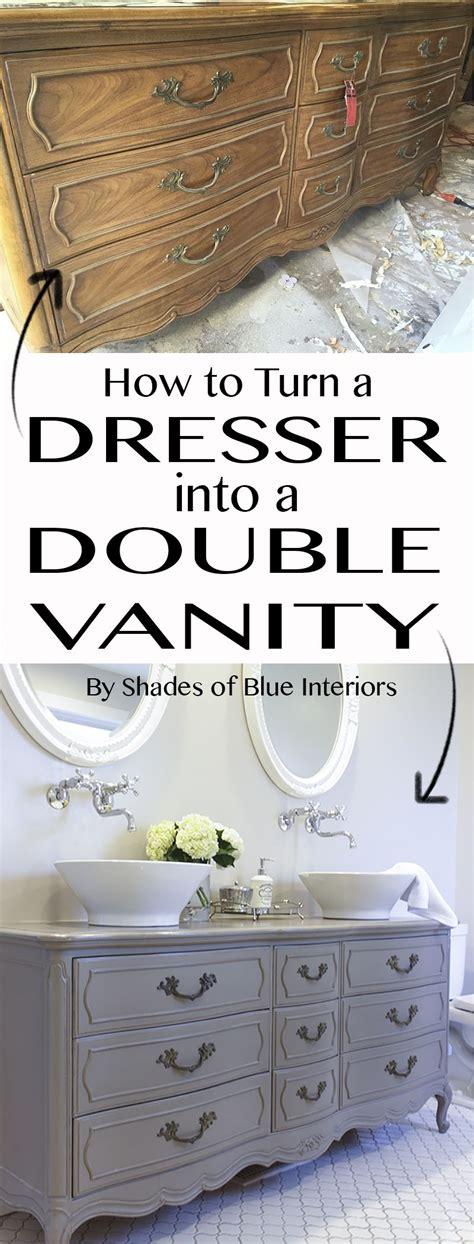turn dresser double vanity diy home