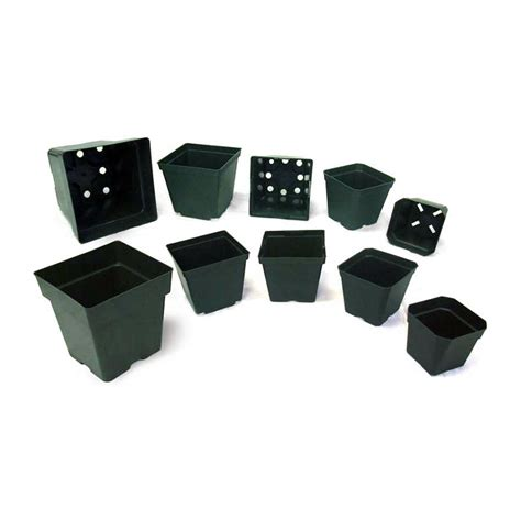 Square Plant Containers by Square Injection Molded Pots Containers For Schools