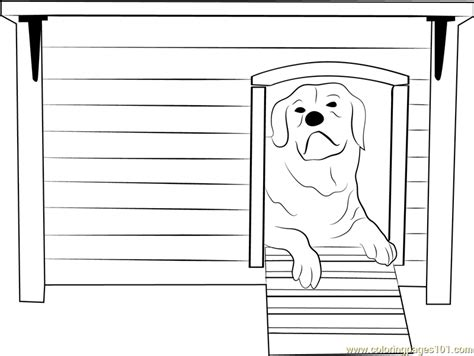 house  dog coloring page  dog house coloring pages coloringpagescom