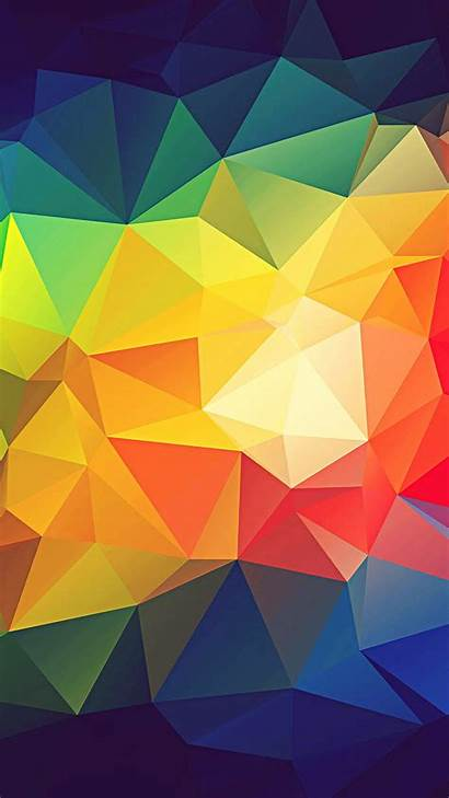 Abstract Shapes Colorful Triangle Iphone Render Wallpapers
