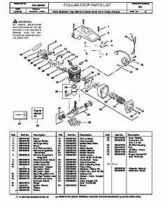Poulan Pro 260 Chainsaw Parts List  2000