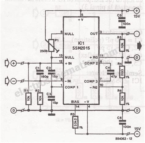 Low Noise Microphone Preamplifier Circuit