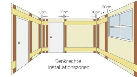 elektro installationszonen nach din   leitungen