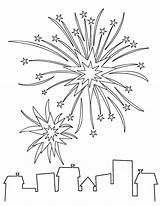 Artifice Explosion Feux Coloriage Momes Coloriages sketch template