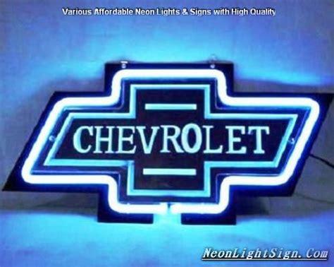 Chevrolet Logo Automobile Neon Bar Light Sign
