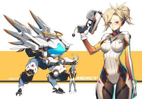 The Games Of Chance Overwatch Fan Art Mercy Mei A Little Genji