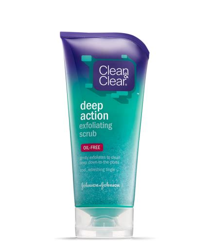 care and clean deep action exfoliating scrub clean clear 174