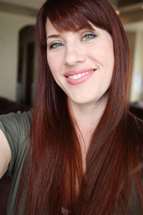 Dye Brown Hair by Henna Hair Dye Tutorial Diy For Medium Brown Hair Before