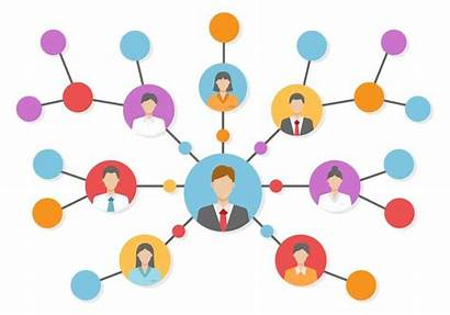 Referral Network Vector Referrals Business Clipart Marketing
