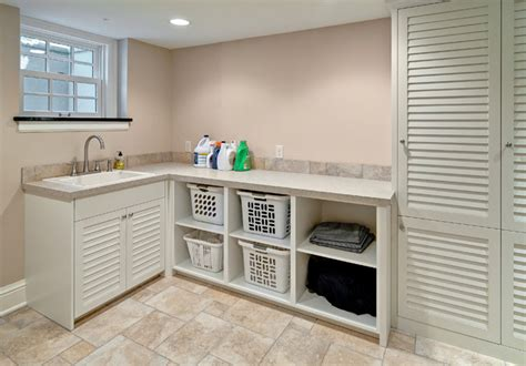 Louvred Cupboard Doors by Laundry With Louvered Doors Traditional Utility Room