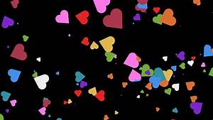 4k colorful Hearts BackGround loop. shining heart shapes ...