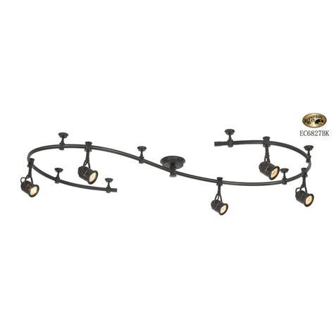 hton bay flexible track lighting hton bay 10 ft 5 light black flexible track lighting