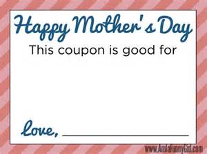 Blank Printable Mother's Day Coupon