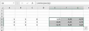 Inverse Matrix Berechnen Mit Rechenweg : einheitsmatrix inverse matrix matrix matrizenmultiplikation minv mmult excel nervt ~ Themetempest.com Abrechnung