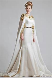 Krikor jabotian wedding dresses chapter one collection for Wedding dress with cape