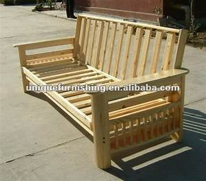 Wooden futon frame for solid wood folding sofa bed buy for Wooden frame futon sofa bed