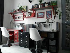 best chambre ado fille gris et rouge photos design With modele de chambre ado
