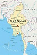 Burma country map - Myanmar country map (South-Eastern ...