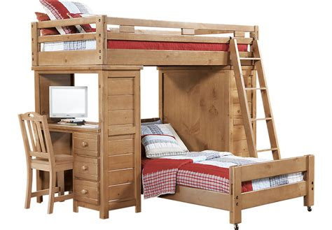 twin loft bed with desk creekside taffy twin twin student loft bed w desk with
