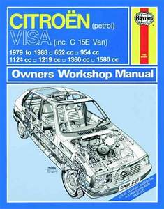 Citroen Visa Petrol 1979 1988 Haynes Service Repair Manual