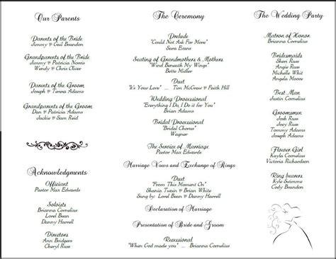 wedding bulletin template printable wedding programs on free printable wedding wedding program templates and
