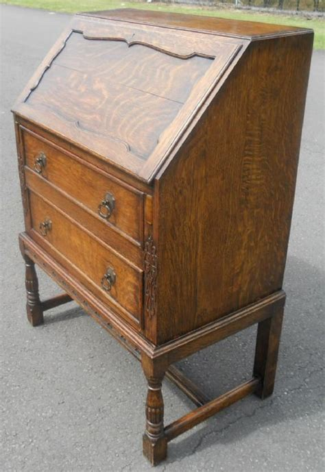 jacobean style oak writing bureau 356034 sellingantiques co uk
