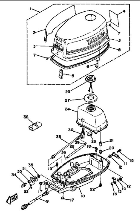 Yamaha Outboard Motor Parts Diagram Impre Media