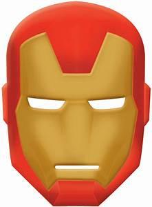 Avengers assemble iron man mask birthdayexpresscom for Avengers mask template