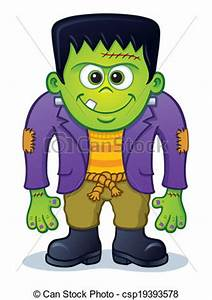 cute halloween monster clip art   Cute Frankenstein ...