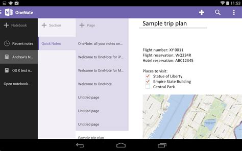 onenote android onenote for android gets new tablet ui and handwriting