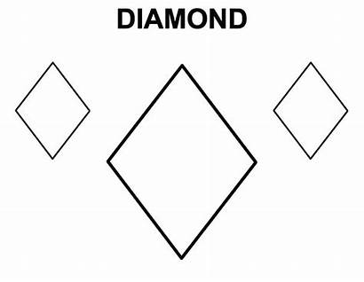 Diamond Coloring Shape Draw Pages Learning Shapes