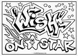 Coloring Graffiti Birijus Printable Omg Source Drawings sketch template