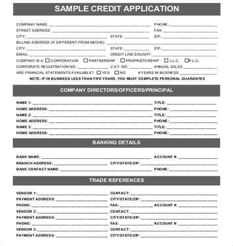 15+ Credit Application Templates