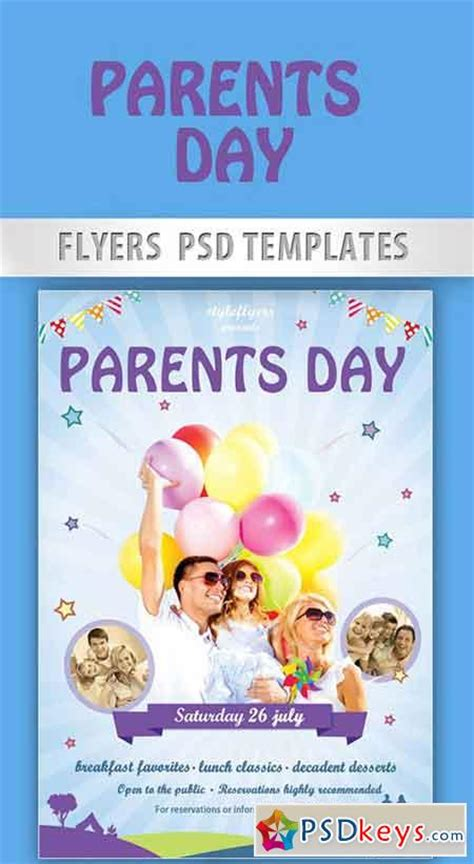 Parents Day Flyer Psd Template + Facebook Cover » Free