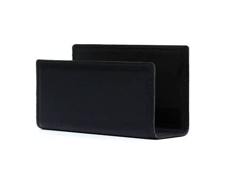 bureau cuir porte lettres en cuir noir accessoire de bureau