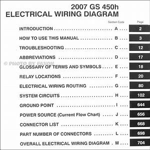 2007 Lexus Gs 450h Wiring Diagram Manual Original