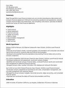 Entry level financial analyst resume template best for Entry level finance resume