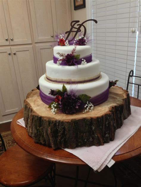 Rustic Plum Wedding Cake Wedding Wedding Cakes Plum