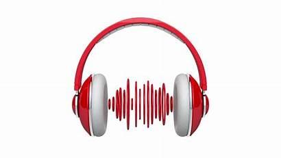 Headphones Sound Waves Background Dj Clip Pulsating
