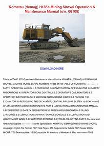 Komatsu Demag H185s Mining Shovel Operation M By Tedsowell