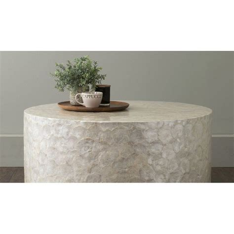 Get 5% in rewards with club o! Dalvey Solid Wood Drum Coffee Table | White round coffee table, Round coffee table, Outdoor ...